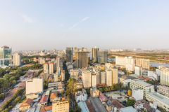 Ho Chi Minh city view from top of building. Ho Chi Minh City has the most dynamic economy in Vietnam Stock Images