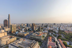 Ho Chi Minh city view from top of building. Ho Chi Minh City has the most dynamic economy in Vietnam Royalty Free Stock Photo