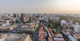 Ho Chi Minh city view from top of building. Ho Chi Minh City has the most dynamic economy in Vietnam Stock Image