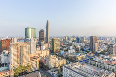 Ho Chi Minh city view from top of building. Ho Chi Minh City has the most dynamic economy in Vietnam Stock Photos