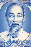 Ho Chi Minh on Currency Note. Macro image of Ho Chi Minh on an old currency note Stock Photography