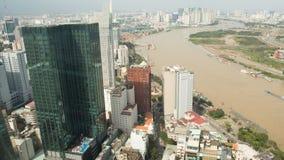 Ho Chi Minh, de stad van Wolkenkrabberssaigon vietnam Royalty-vrije Stock Foto