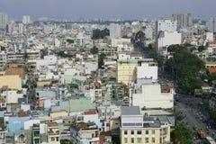 Ho Chi Minh den största staden i Vietnam Arkivfoto