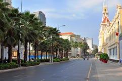 Ho Chi Minh gata Arkivfoto
