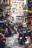 HO CHI MINH - JUNE 14: People and turists walking in the city st Stock Photography