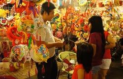 Ho chi Minh lantern street at night Stock Images