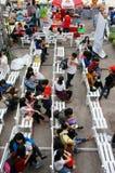 Ho Chi Minh market day fair, Vietnamese  student Royalty Free Stock Photo
