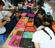 Ho Chi Minh market day fair, Vietnamese  student Stock Photos