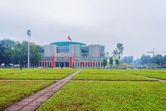 Ho Chi Minh Mausoleum à Hanoï Vietnam photographie stock libre de droits