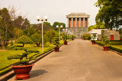 Ho Chi Minh Mausoleum. Side view of the Ho Chi Minh mausoleum in Hanoi, Vietnam Stock Images
