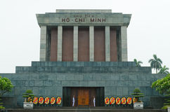 Ho Chi Minh Mausoleum. The tomb of Ho Chi Minh is quite plain, but the Vietnamese queue hundreds of meters to visit it Royalty Free Stock Photos