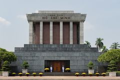 Ho chi minh mausoleum Ba Dinh place in the centre of Hanoi royalty free stock image