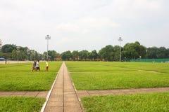 Ho Chi Minh Mausoleum dans la ville de Hanoï vietnam Année 2011, août image stock