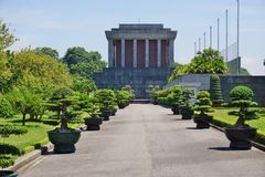 Ho Chi Minh Mausoleum en Hanoi, Vietnam Fotos de archivo libres de regalías