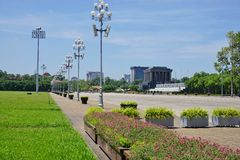 Ho Chi Minh Mausoleum en Hanoi, Vietnam Fotos de archivo