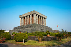 Ho Chi Minh Mausoleum in Hanoi. Ho Chi Minh Mausoleum in Hanoi, Vietnam Royalty Free Stock Images