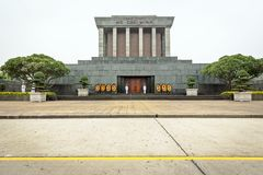 Ho Chi Minh-Mausoleum in Hanoi Stock Afbeelding
