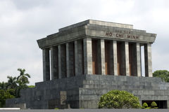 Ho Chi Minh Mausoleum - Hanoi. Place where Ho Chi Minh read the Declaration of Independence. Vietnam Royalty Free Stock Images