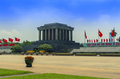 Ho Chi Minh Mausoleum in Hanoi. Stock Photo