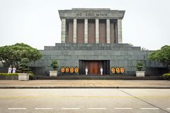 Ho-Chi-Minh Mausoleum in Hanoi Stock Photo