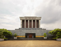 Ho Chi Minh mausoleum, Hanoi, Vietnam. Ho Chi Minh's embalmed body is on display in a granite mausoleum modeled after Lenin's Tomb in Moscow Stock Images