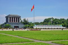 The Ho Chi Minh Mausoleum in Hanoi, Vietnam Royalty Free Stock Images