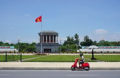 The Ho Chi Minh Mausoleum in Hanoi, Vietnam Stock Photo