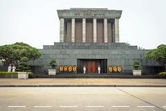 Ho Chi Minh mausoleum i Hanoi Arkivfoto