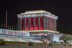 Ho Chi Minh Mausoleum at Night. Stock Photo