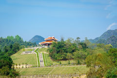 Ho Chi Minh memorial. HCM memorial house in PacBo Royalty Free Stock Photo