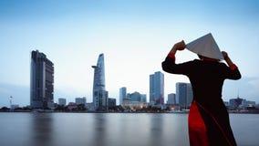 Ho Chi Minh miasta linia horyzontu Zdjęcie Royalty Free