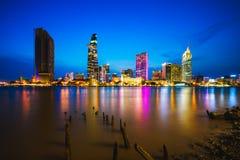 Ho Chi Minh miasta linia horyzontu obrazy royalty free