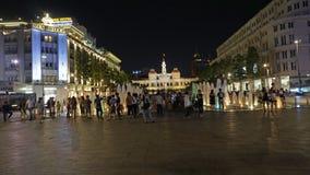Ho Chi Minh miasta noc Wietnam Zdjęcia Stock