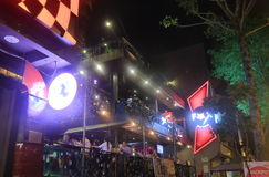 Ho Chi Minh miasta nocy w centrum klub Saigon Wietnam Obraz Stock