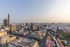 Ho Chi Minh miasta widok od wierzchołka budynek Zdjęcie Royalty Free
