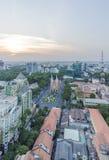 Ho Chi Minh miasta widok od wierzchołka budynek Obraz Stock