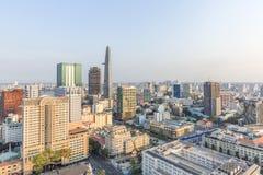 Ho Chi Minh miasta widok od wierzchołka budynek Zdjęcia Stock
