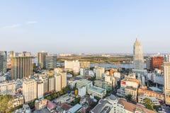Ho Chi Minh miasta widok od wierzchołka buiding Obrazy Stock