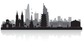 Ho Chi Minh miasta Wietnam miasta linii horyzontu sylwetka ilustracja wektor