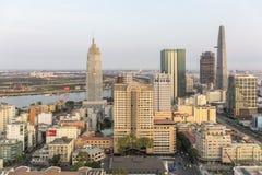 Ho Chi Minh miasto w świetle słonecznym Zdjęcie Royalty Free