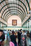 26 12 2017 Ho Chi Minh miasto, Wietnam, Główny urzędu pocztowego budynek Obraz Royalty Free
