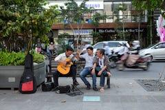 Ho Chi Minh miasto, Wietnam, gitara, ulica Zdjęcia Royalty Free