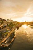 HO CHI MINH miasto WIETNAM, Jan, - 24, 2017: Ben Binh Dong kwiat f Obrazy Royalty Free