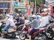 Ho Chi Minh miasto Wietnam, Wrzesień, -, 2016: Ruchu drogowego dżem zdjęcia stock