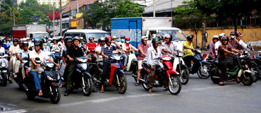 Ho Chi Minh motorcycles Royalty Free Stock Photo