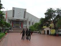 Ho Chi Minh Museum i Hanoi Vietnam Royaltyfria Bilder