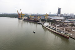 Ho Chi Minh port Royaltyfri Foto