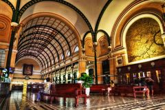 Ho Chi Minh Post Office royalty free stock images