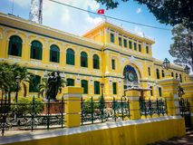 Ho Chi Minh Post Office Vietnam Asia sudoriental imagenes de archivo