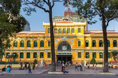 Ho Chi Minh post office Royalty Free Stock Photography